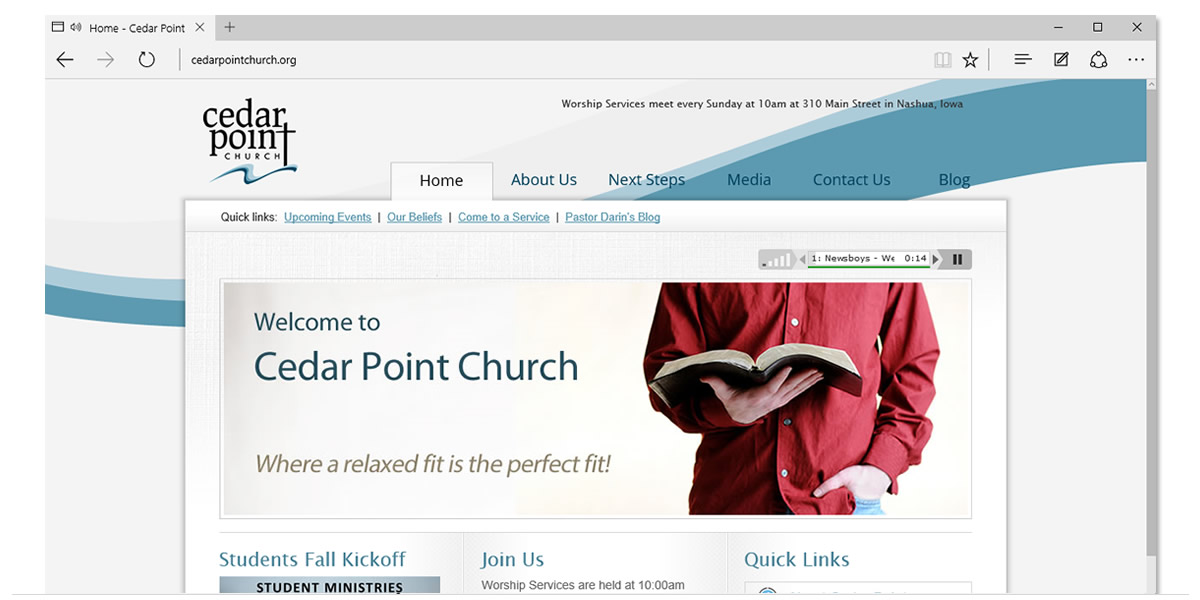 Cedar Point Church Website
